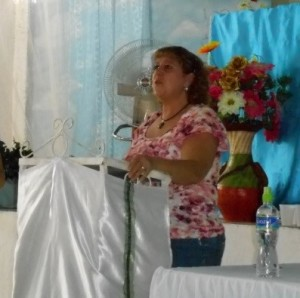 Speaking in Honduras