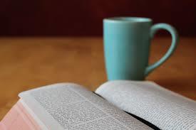 bible with coffeee mug