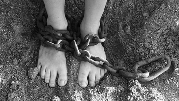feet in shackles