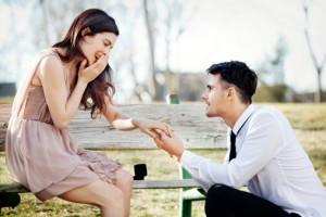man-proposes