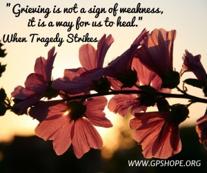 Grieving is not a sign
