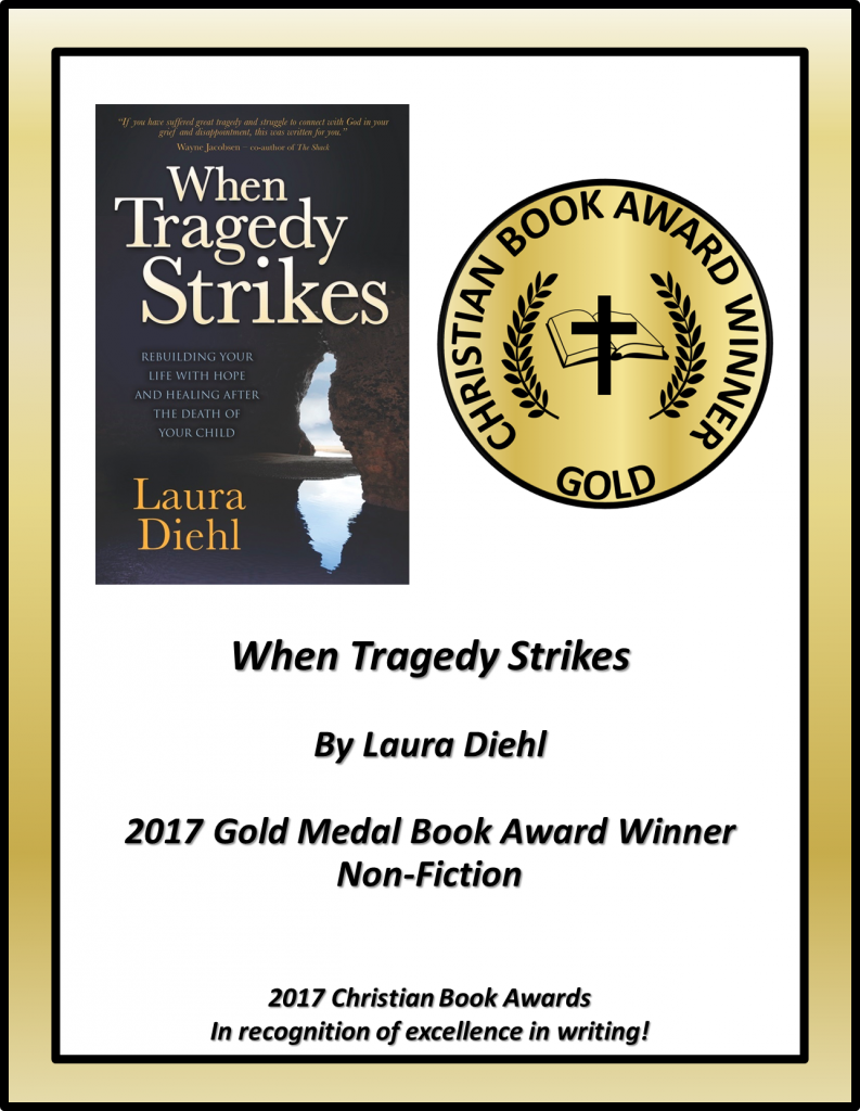 When Tragedy Strikes CBA Award Winning Certificate with cover Non-Fiction